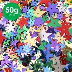 Star Sequins - Assorted - 50g Pack