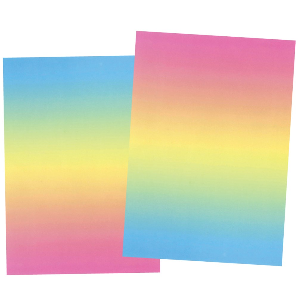 Rainbow Paper Pack Of 100 Coloured Paper Cleverpatch