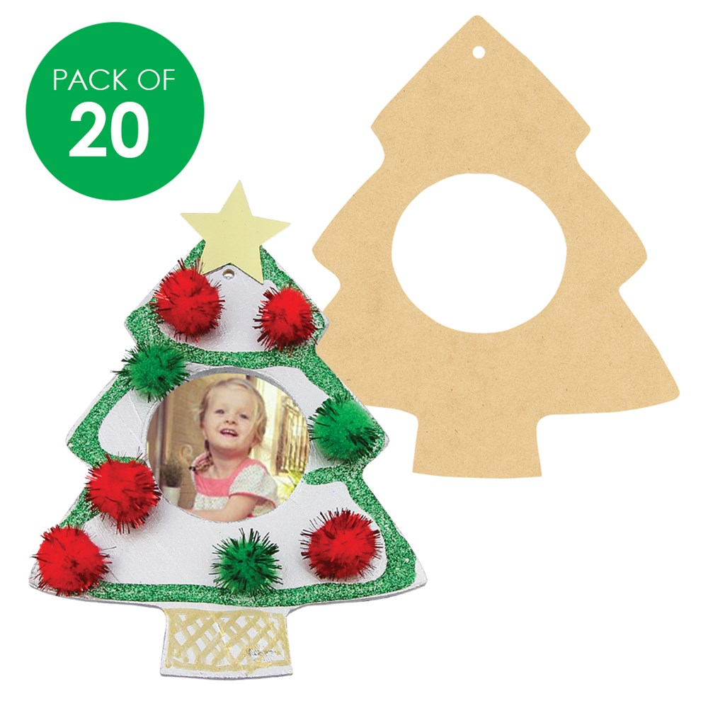 Wooden Christmas Tree Frames Pack Of 20 Christmas Ornaments Cleverpatch Art Craft Supplies
