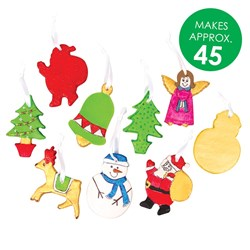 Clay Christmas Character Ornaments Group Pack