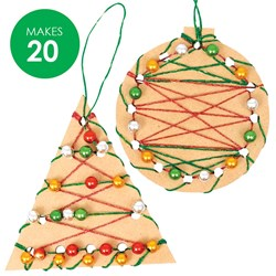 Wooden Christmas Weaving Shapes Group Pack