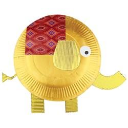 Paper Plate Elephant Paper Card Cleverpatch Art Craft Supplies