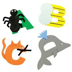 Alphabet Numbers Craft Ideas Cleverpatch Art Craft Supplies