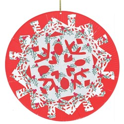 Hanging Snowflake Christmas Doilies  sc 1 st  CleverPatch & Paper Plates - Large Coloured - Pack of 100 | General Collage ...