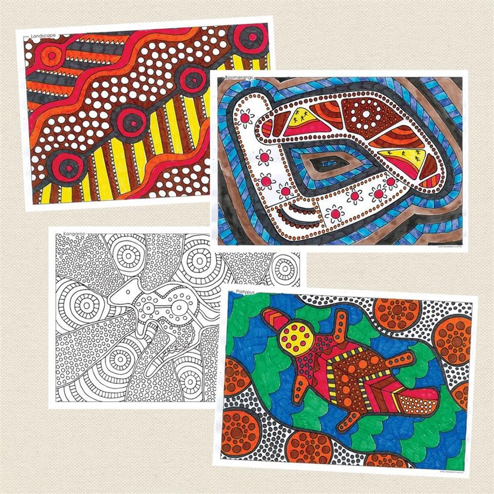 Naidoc Colouring In Sheets Naidoc Week Cleverpatch Art Craft Supplies