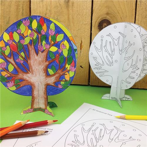 3d Seasonal Tree