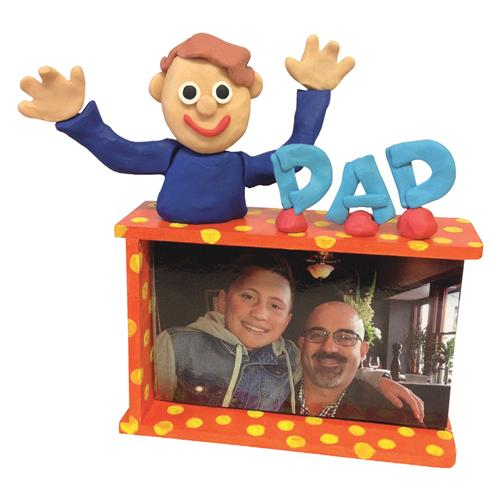 """DAD"" Frame and Clay Character"