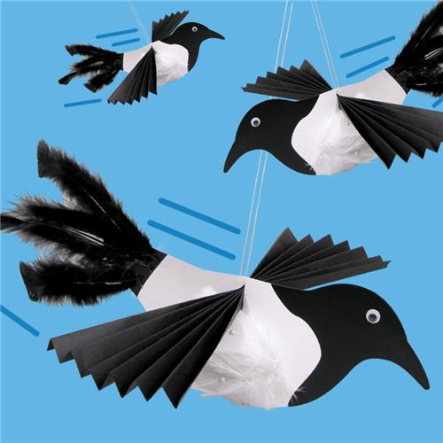 Swooping Magpie Australia Day Cleverpatch Art