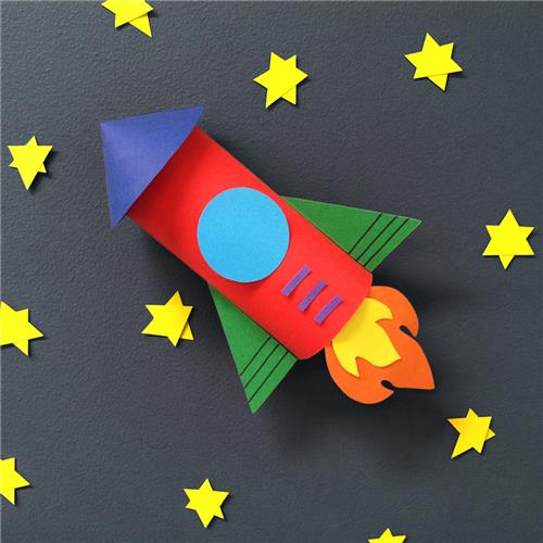 Paper Rocket Paper Amp Card Cleverpatch Art Amp Craft