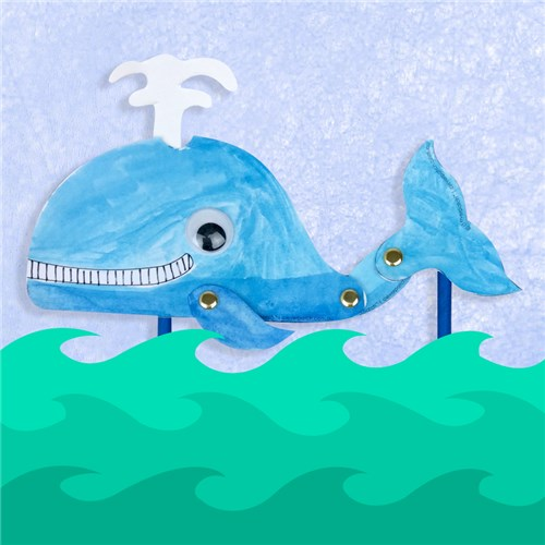 Swimming Whale Puppet Paper Amp Card Cleverpatch
