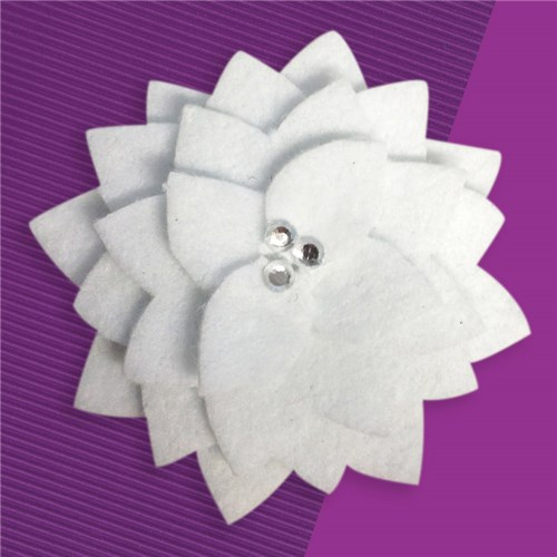 White Felt Brooch