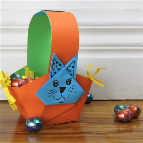 Origami Paper Basket: How to Make Easy Paper Basket for gifts ... | 500x500