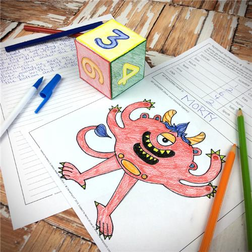 My Monster Activity - Fun with Literacy & Numeracy
