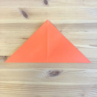 Chatterbox paper card cleverpatch art craft supplies step 2fold the square in half point to point to make a triangle and then unfold if using our template fold so the design is on the outside maxwellsz