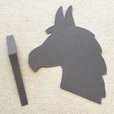 Step 1Download Our Template And Use Scissors To Cut Out Your Donkeys Head From Grey Card Fringe A Thin Strip Of For Tail