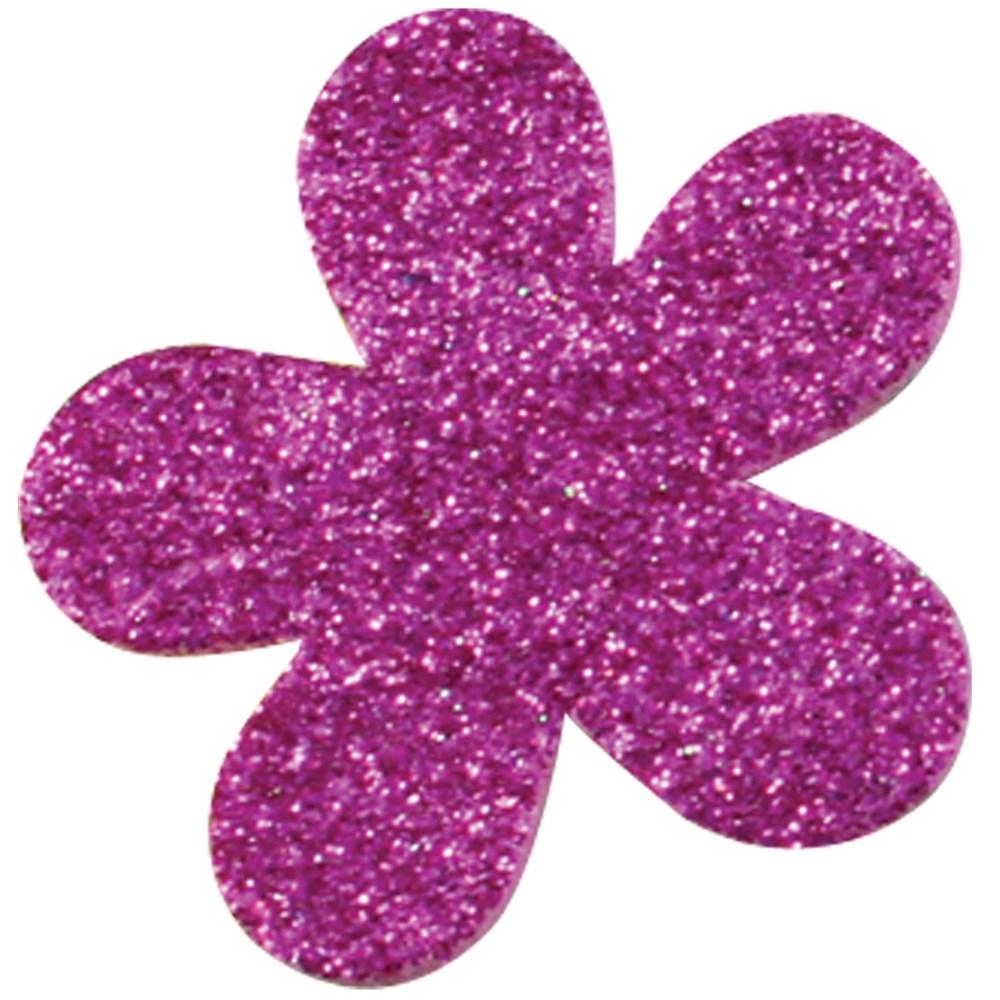 Foam Glitter Flower Stickers Pack Of 120 Foam