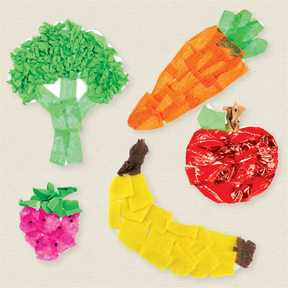 Cardboard Fruit Vegetables White Pack Of 24 Paper Activities