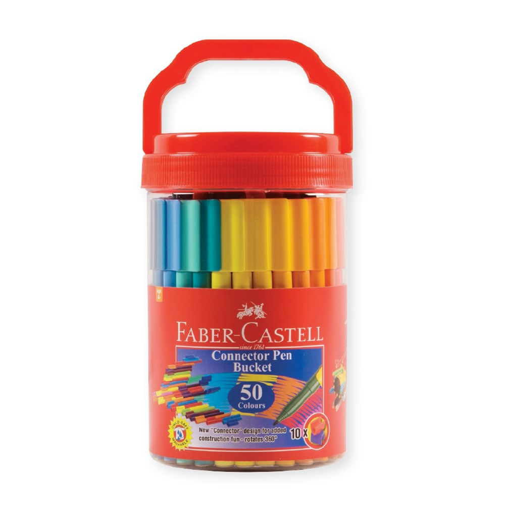 Faber Castell Connector Pens Pack Of 50 Markers