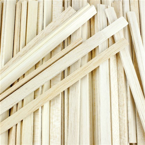 Balsa Wood Large Sticks - Pack of 120