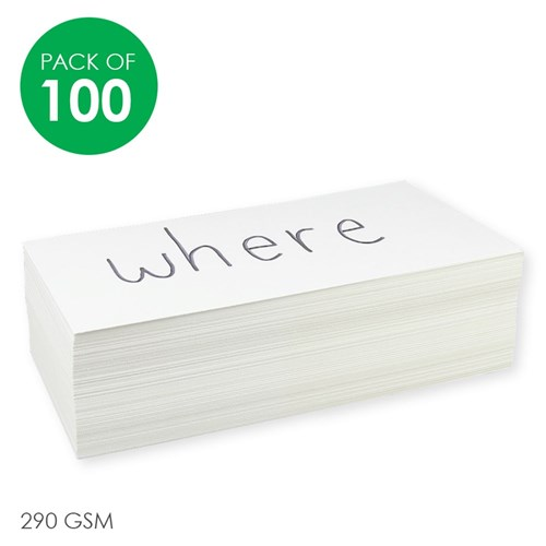 Flash Cards - White