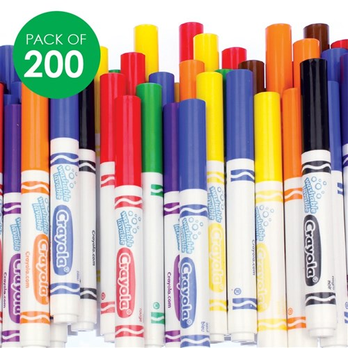 Crayola Washable Broad Line Markers Classpack