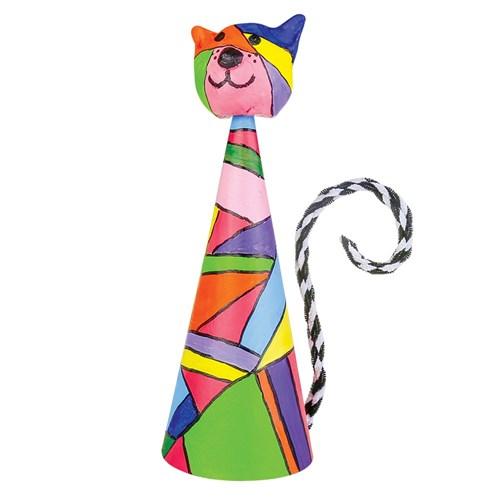 how to make paper mache cones
