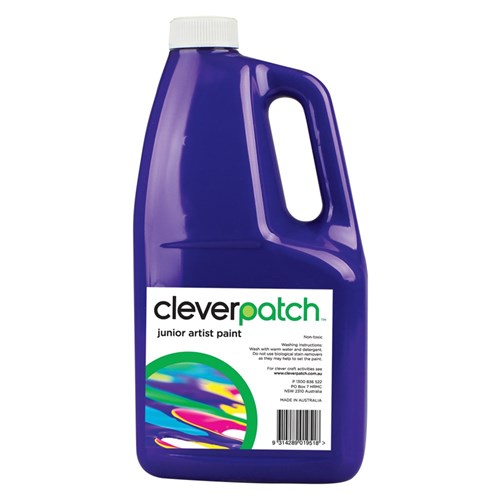CleverPatch Junior Artist Paint - Purple - 2 Litres