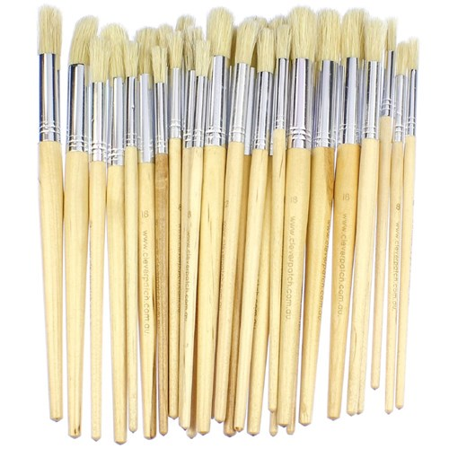 Round Paint Brushes - Assorted