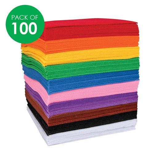 Felt Bundles - Squares - Pack of 100