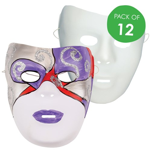 face masks white pack of 12 masks cleverpatch art craft