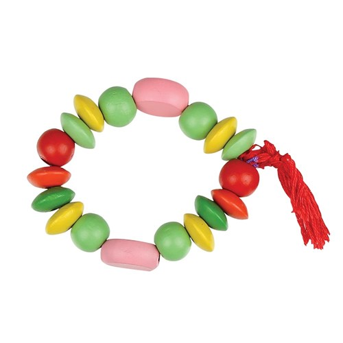 Wooden Beads - Coloured - 500g Pack