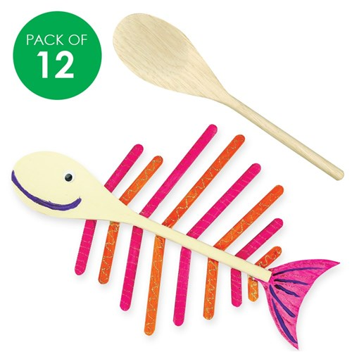 Wooden Spoons - Pack of 12