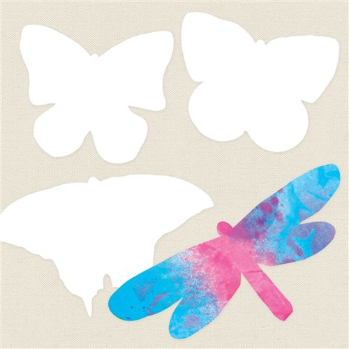 Colour Diffusing Insect Shapes - Pack of 48