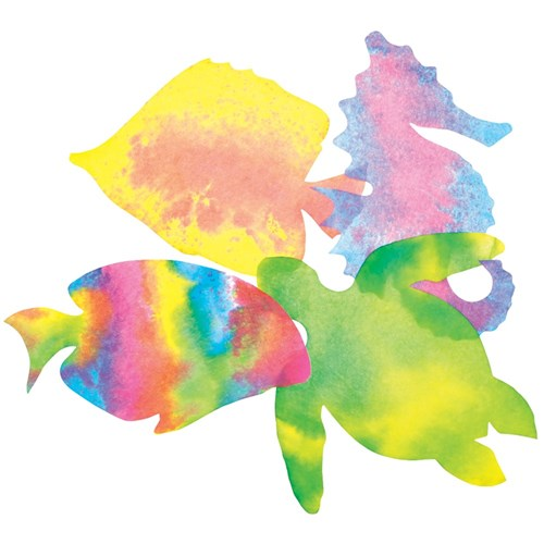 Colour Diffusing Sealife Shapes - Pack of 48