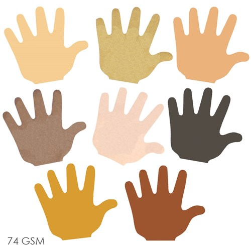 Multicultural Paper Hand Pad - Pack of 35