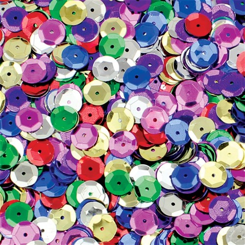 Cup Sequins - Multi - 50g Pack