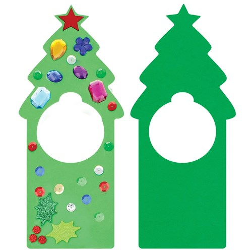 Christmas Tree Foam Door Hangers Pack Of 25 Foam