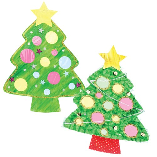 Why Is There A Christmas Tree: Cardboard Christmas Tree Cutouts
