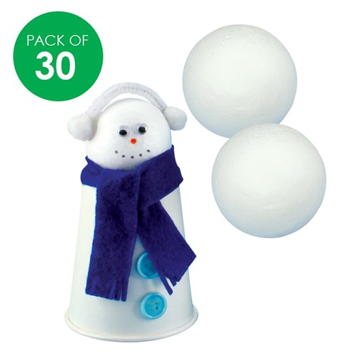 Decofoam Balls - 5cm - Pack of 30