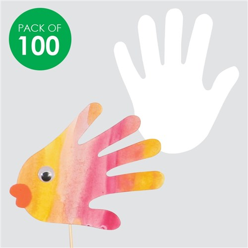 Paper Hands - White - Pack of 100