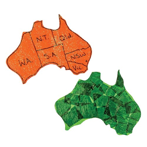 Wooden Mainland Australia Shapes