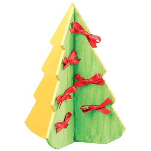 3d Christmas Tree Pattern: 3D Wooden Christmas Trees - Pack Of 20