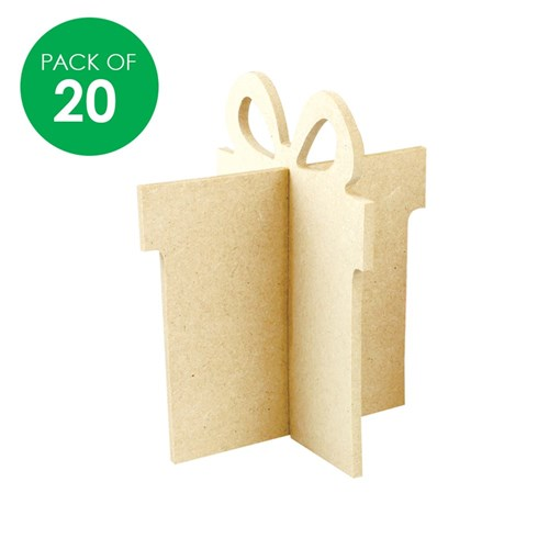 3D Wooden Presents - Pack of 20