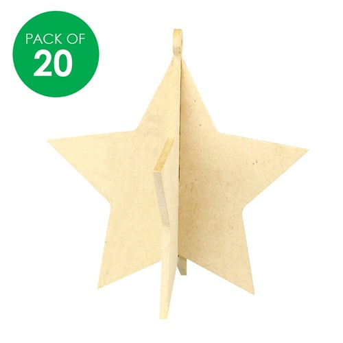3d Wooden Stars