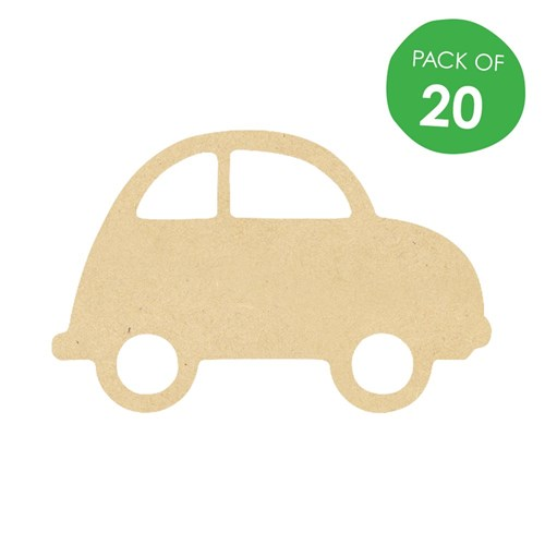 Wooden Car Frames - Pack of 20 | Wooden Craft - CleverPatch - Art ...