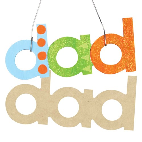 Wooden dad Plaques