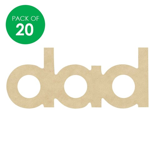 Wooden dad Plaques - Pack of 20