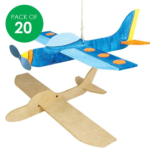 3D Wooden Planes - Pack of 20