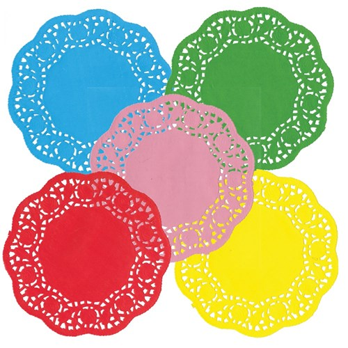 Doilies - Coloured - Pack of 120