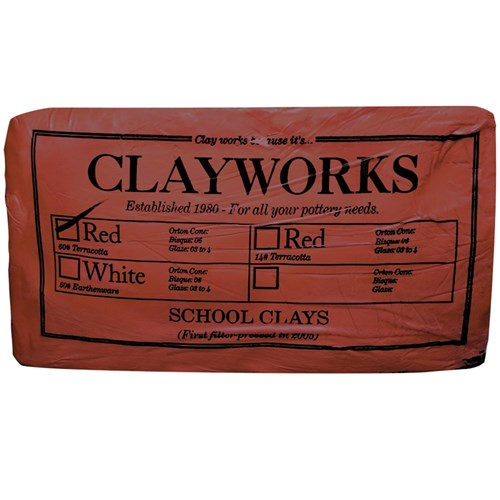 Clayworks School Clay - Terracotta -  10kg Pack